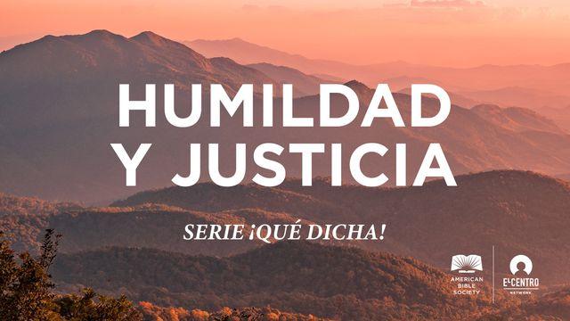 Humildad y justicia