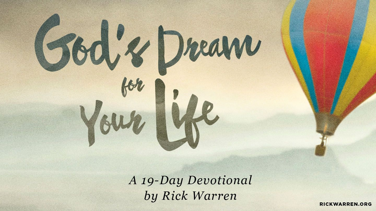 God's Dream For Your Life - The Bible says in Matthew 9:29