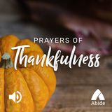 Prayers Of Thankfulness